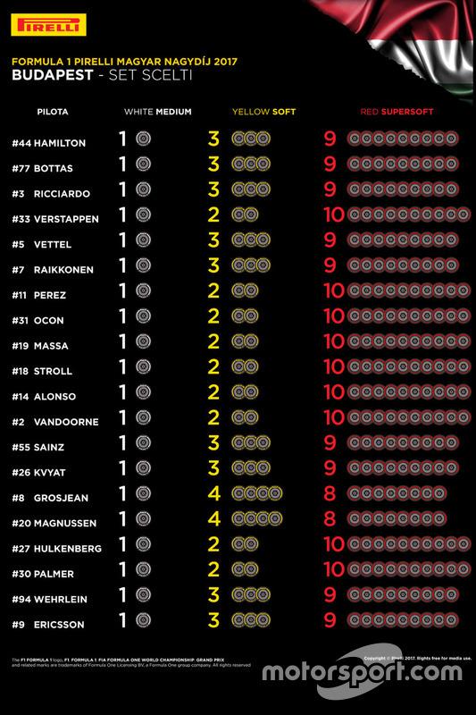 Macaristan GP lastik tercihleri