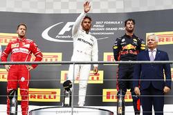 Podium: 1. Lewis Hamilton, Mercedes AMG, 2. Sebastian Vettel, Ferrari, 3. Daniel Ricciardo, Red Bull Racing
