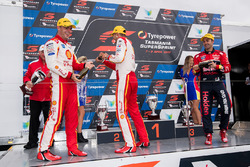 Podium: race winner Fabian Coulthard, Team Penske Ford, second place Scott McLaughlin, Team Penske Ford, third place Jamie Whincup, , Triple Eight Race Engineering Holden