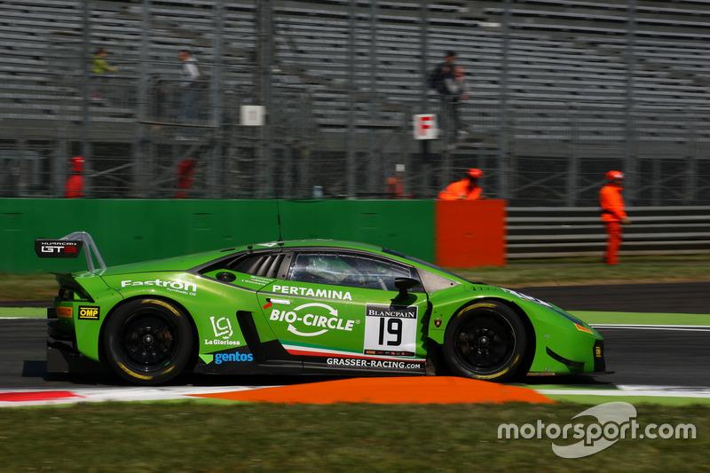#19 GRT Grasser Racing Team, Lamborghini Huracan GT3: Ezequiel Perez Companc, Norbert Siedler, Raffaele Giammaria