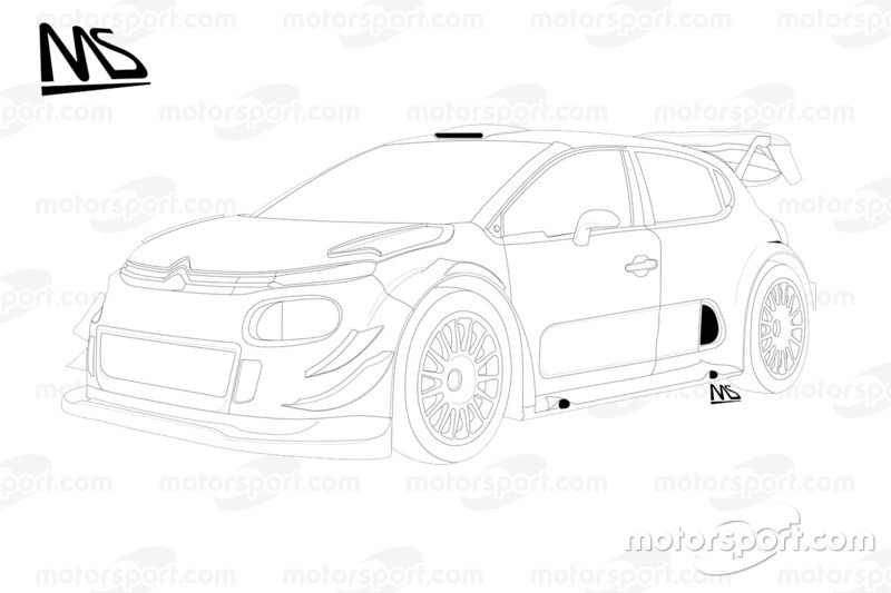 Детали Citroën C3 WRC Plus 2017