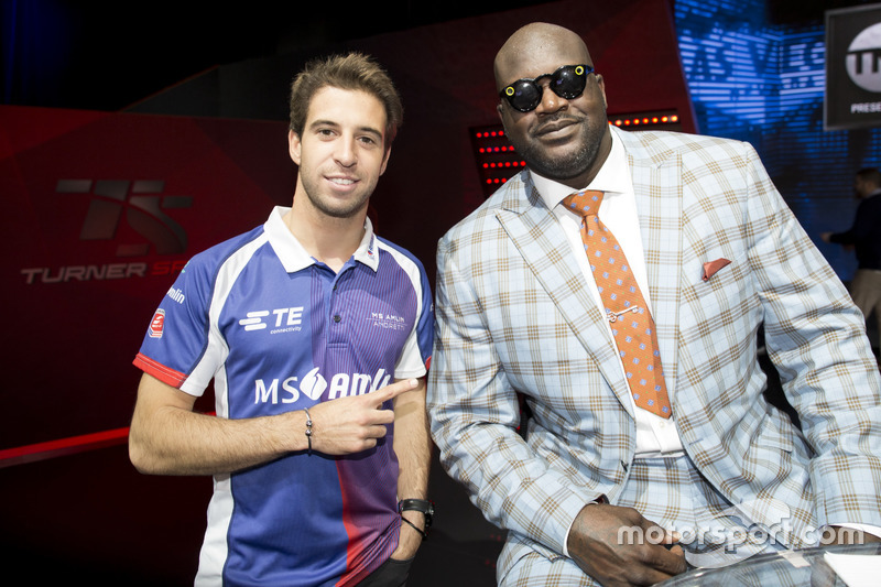 Antonio Felix da Costa, Amlin Andretti Formula E Team, puntos a la leyenda del baloncesto Shaquille O'Neal