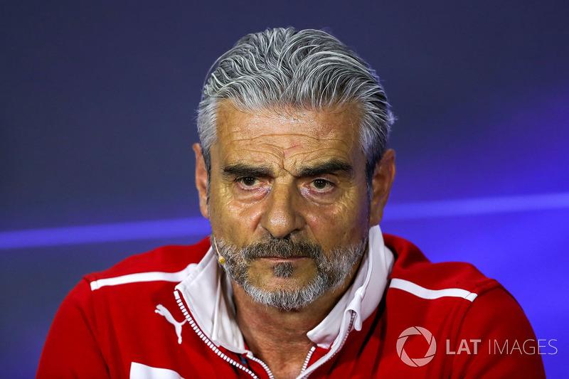 Maurizio Arrivabene, Ferrari Team Principal in the Press Conference
