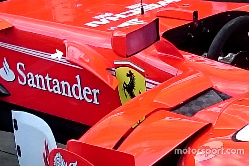 Ferrari SF70H: Cockpit-Finne