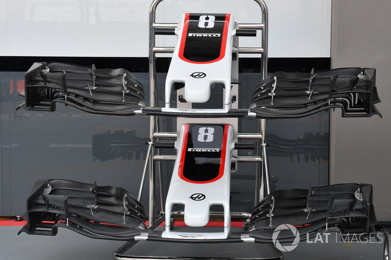 Haas F1 Team VF-17, Nase und Frontflügel