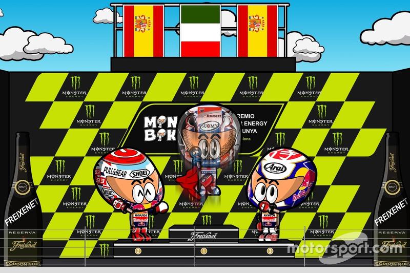 Podium MotoGP Catalunya 2017 a la 'MiniBikers'