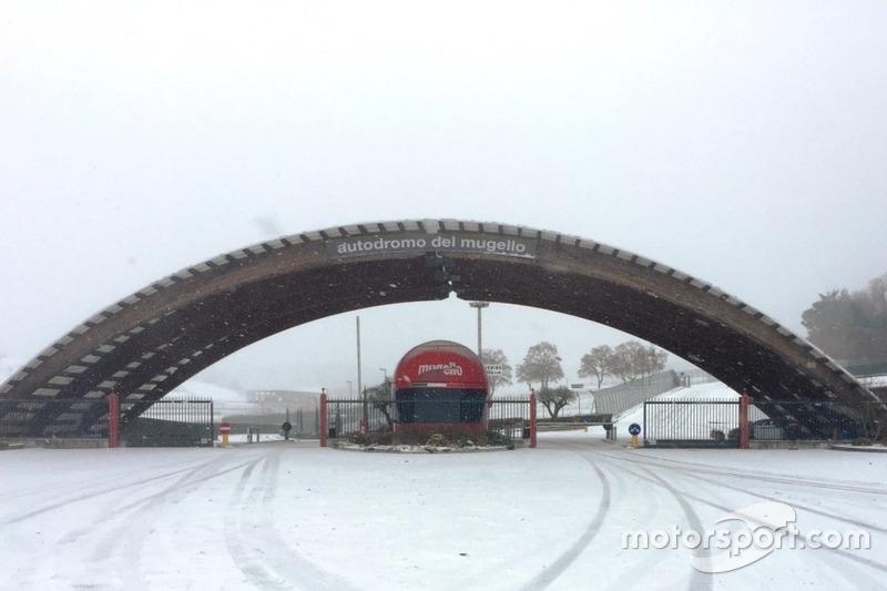 Autodromo del Mugello im Schnee