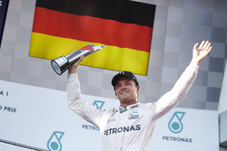Third place Nico Rosberg, Mercedes AMG F1