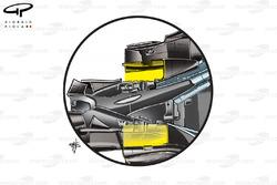 McLaren MP4-22 2007 diffuser side view detail