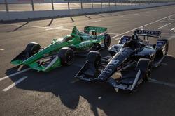 Autos von Spencer Pigot, Ed Carpenter Racing Chevrolet, und Jordan King, Ed Carpenter Racing Chevrolet