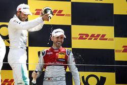 Podium: Race winner René Rast, Audi Sport Team Rosberg, second place Gary Paffett, Mercedes-AMG Team HWA