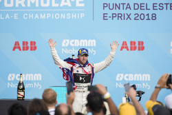 Sam Bird, DS Virgin Racing, celebra en el podio