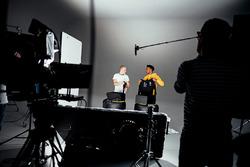 Valtteri Bottas, Lewis Hamilton, behind the scenes at the Mercedes launch