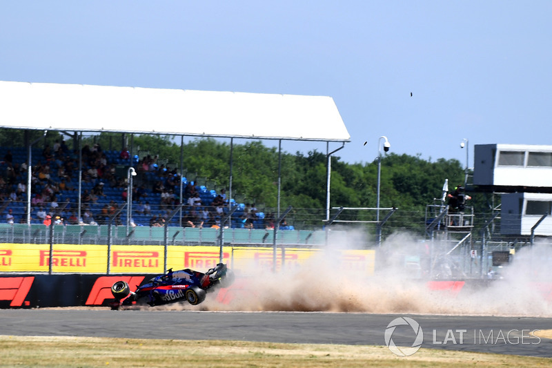 L'incidente di Brendon Hartley, Scuderia Toro Rosso STR13