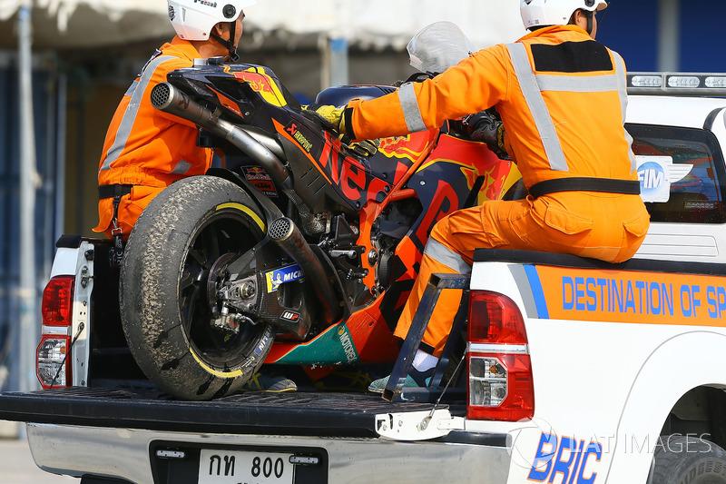 Moto chocada de Mika Kallio, Red Bull KTM Factory Racing