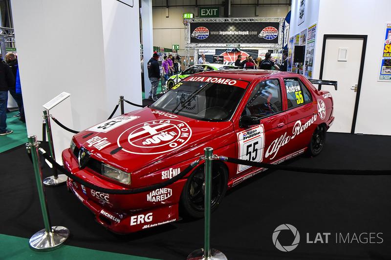 An Alfa Romeo 155 BTCC car on display