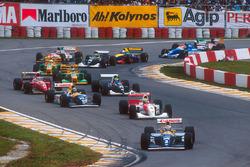 Start zum GP Brasilien 1993: Alain Prost, Williams FW15C, führt