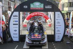 World Champions Sébastien Ogier, Julien Ingrassia, Ford Fiesta WRC, M-Sport with the team