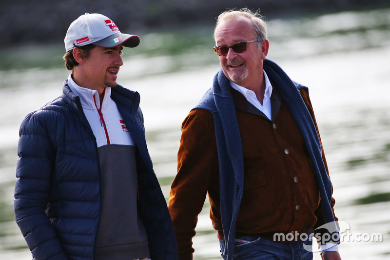 (L to R): Esteban Gutierrez, Haas F1 Team with Didier Coton, Driver Manager