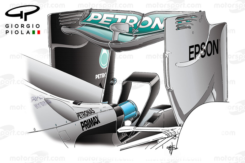 Mercedes W06 rear wing, Belgium GP