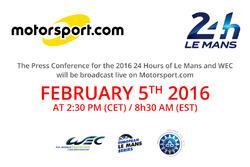 Pressekonferenz für die 24 Stunden von Le Mans und FIA-WEC 2016