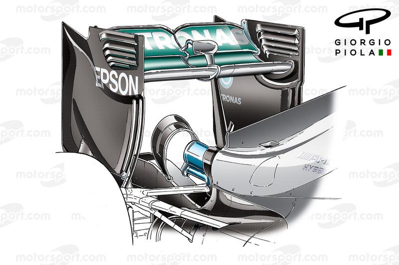 Mercedes W07 rear wing