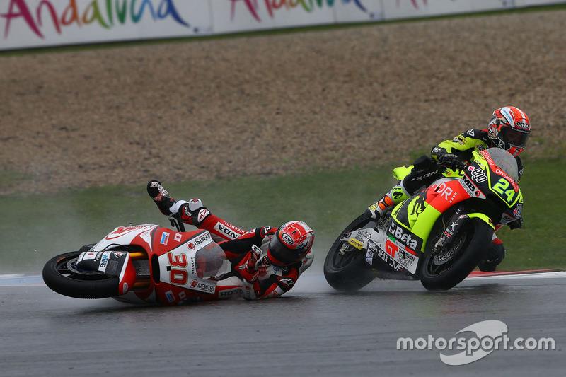 Incidente di Simone Corsi, Speed Up Racing e Takaaki Nakagami, Honda Team Asia
