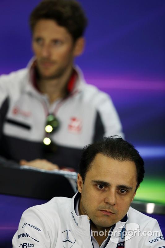 Felipe Massa, Williams in de persconferentie