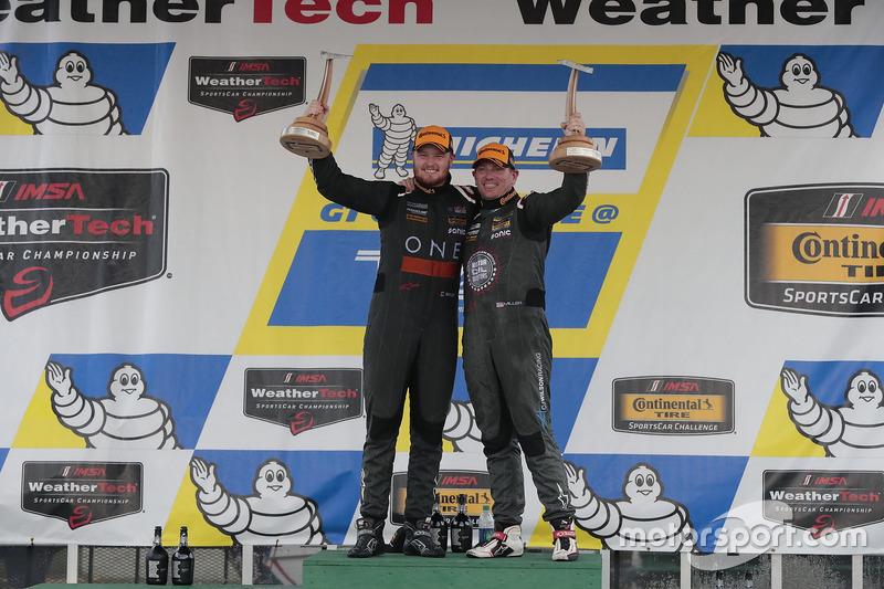 Race winners #33 CJ Wilson Racing Porsche Cayman GT4: Daniel Burkett, Marc Miller
