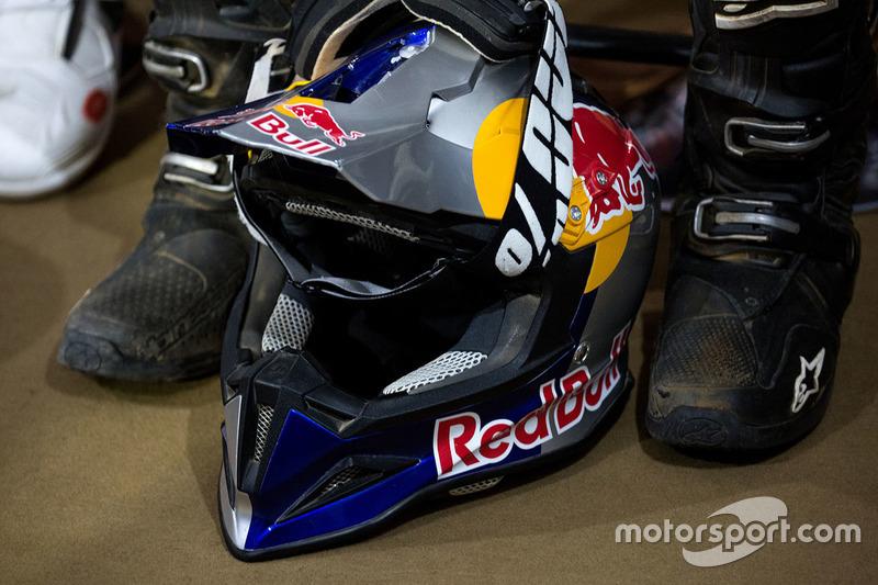 Casco de CS Santosh, Hero MotoSports Team Rally