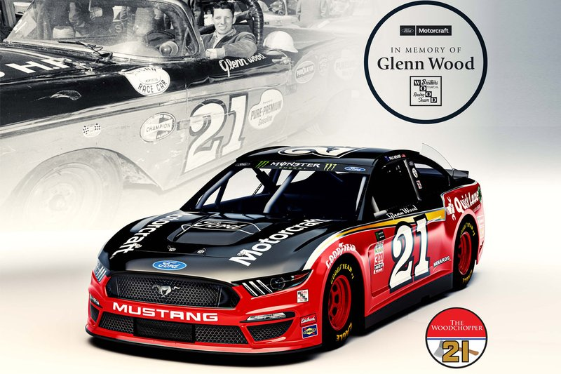 Wood Brothers Racing throwback renk düzeni