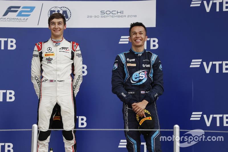 Le podium était complété par Sette Câmara et un Alexander Albon ravi