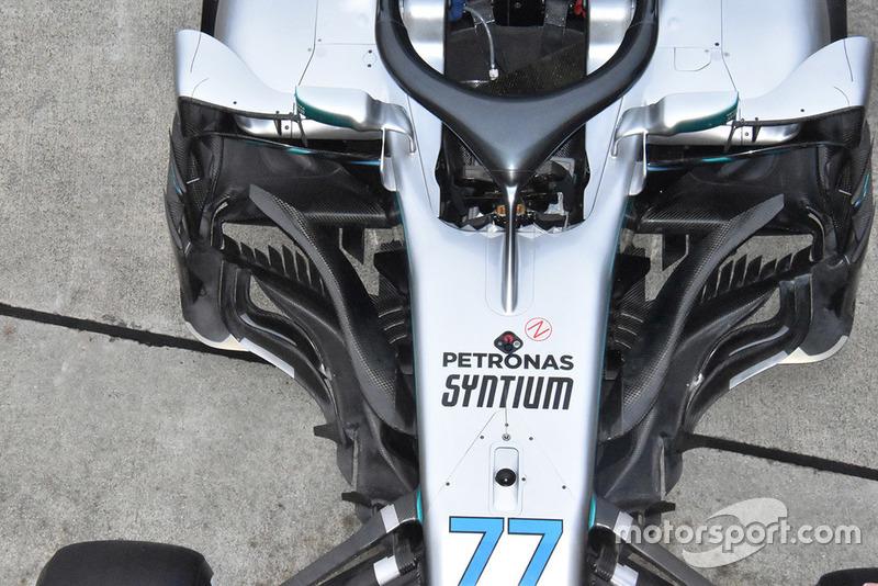 Область дефлекторов Mercedes F1 W09 Валттери Боттаса