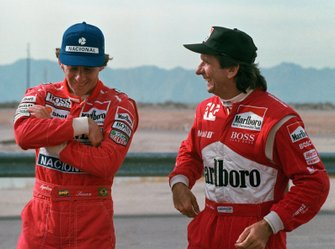 Ayrton Senna en Emerson Fittipaldi