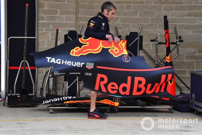 Une pièce de carrosserie de Red Bull Racing RB14