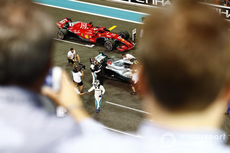 Valtteri Bottas, Mercedes AMG F1 W09 EQ Power+, ritorna in griglia dopo le Qualifiche