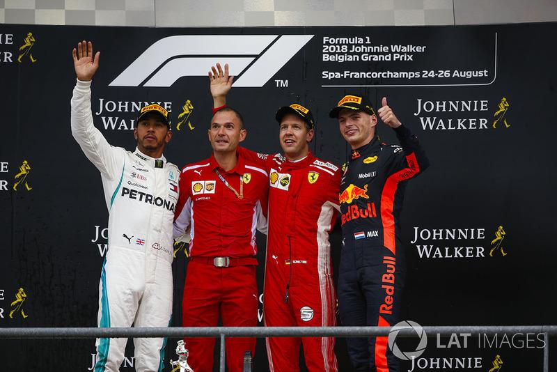 Podium GP Belgia 2018