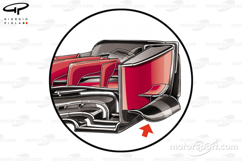 Ferrari SF71H front wing end plate