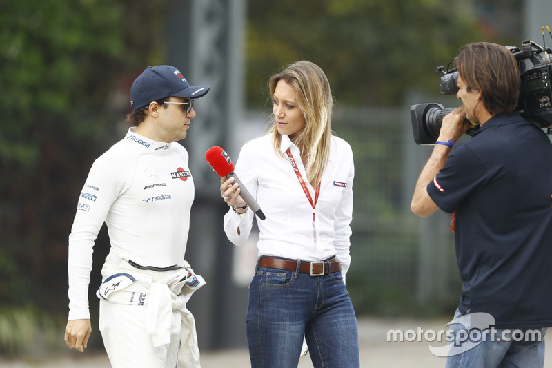 Felipe Massa, Williams, is interviewed