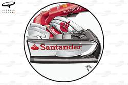 Ferrari SF70H nueva placa de extremo y la nariz, GP británico