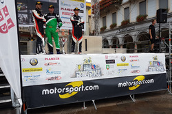 Sébastien Carron, Vincent Landais, Paolo Pianca sul podio, Rally Ronde del Ticino