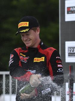 Podium: race winner Patrick Long, Wright Motorsports
