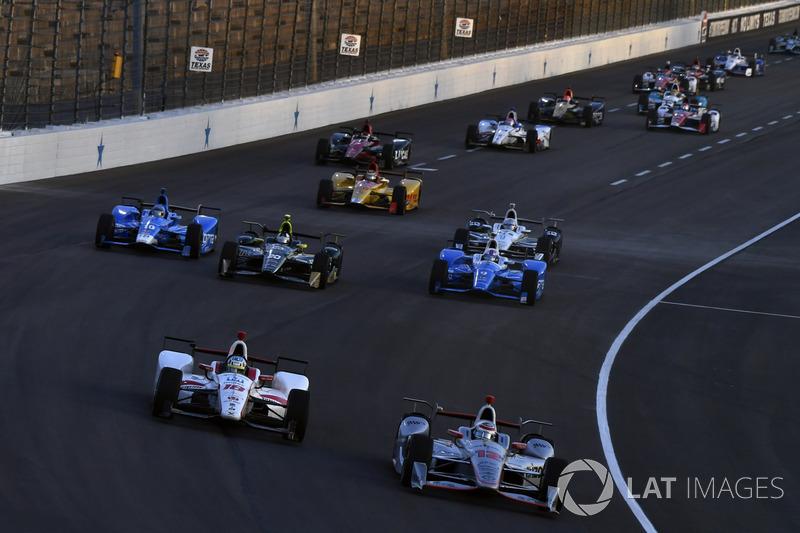 Graham Rahal, Rahal Letterman Lanigan Racing Honda, Tristan Vautier, Dale Coyne Racing Honda