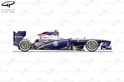 Williams FW35 side view
