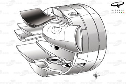 Williams FW32 rear brake duct