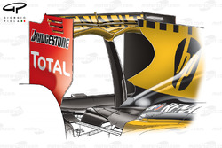 Renault R30 rear wing