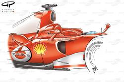 Ferrari 248 F1 outboard wing mirrors