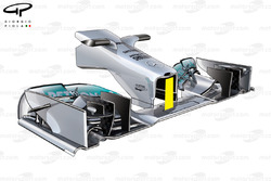 Mercedes W04 new nose, captioned
