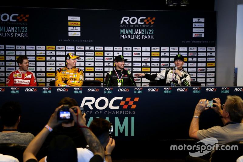 Conferencia de prensa con Sebastian Vettel, Kyle Busch, Kurt Busch y Petter Solberg