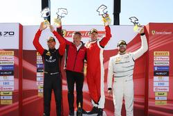Trofeo Pirelli podium: winner Peter Ludwig, second place Martin Fuentes, third place Cooper MacNeil